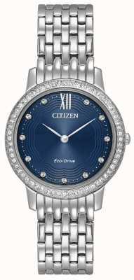 Citizen silueta de cristal de la mujer de conducción ecológica azul EX1480-58L
