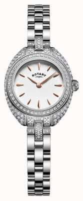 Rotary Womans conjunto piedra pequeña pulsera de plata LB05087/02