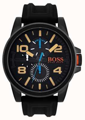 Hugo Boss Orange correa de caucho negro para hombre de Detroit 1550011