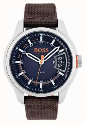 Hugo Boss Orange Mens hong kong correa de color marrón 1550002