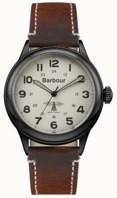 Barbour cuero marrón para hombre Murton BB056CMBR