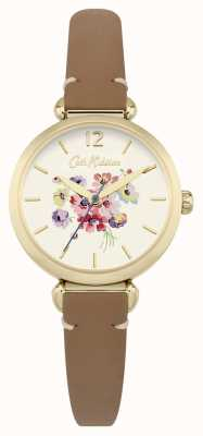 Cath Kidston Mujer marrón floral dial CKL015TG