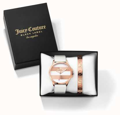 Juicy Couture La mujer blanca Fergi brazalete color de rosa set de regalo reloj de oro 1950007