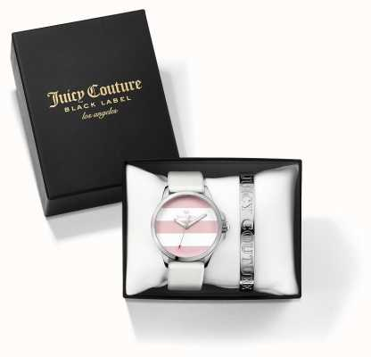 Juicy Couture Womans Fergi brazalete de plata blanco y Juego regalo de reloj 1950009