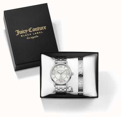 Juicy Couture La mujer de la jet-brazalete de plata y ver juego de regalo 1950010