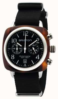 Briston Mens clubmaster clásico acetato crono tortuga shell negro 16140.SA.T.1.NB