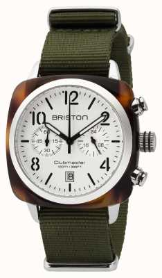 Briston Mens clubmaster classic chrono carey shell blanco 16140.SA.T.2.NGA