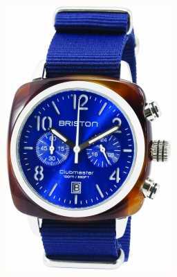 Briston Mens clubmaster clásico acetato crono tortuga azul 15140.SA.T.9.NNB