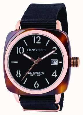 Briston Hombre clubmaster clásico acetato negro 13240.PRA.T.1.NB