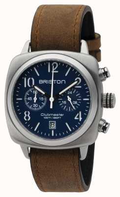 Briston Mens clubmaster clásico crono de acero azul mate 16140.S.C.15.LVBR
