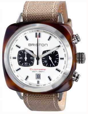 Briston Mens clubmaster sport tortuga acetato blanco crono blanco 15142.SA.TS.2.LSK