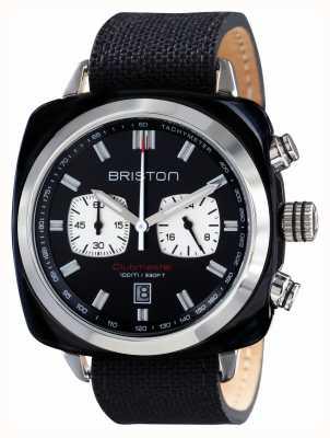 Briston Mens del deporte clubmaster acetato crono negro 17142.SA.BS.1.NB