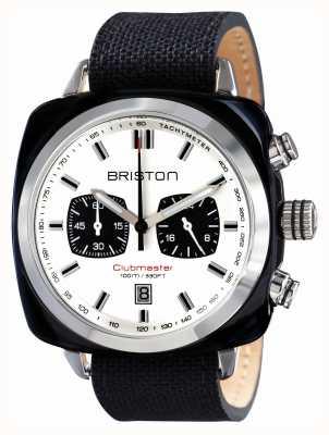 Briston Mens del deporte clubmaster acetato crono negro 15142.SA.BS.2.LSB