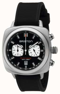 Briston Mens del deporte clubmaster crono de acero negro 16142.S.SP.1.RB