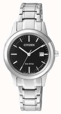 Citizen Reloj de acero de las señoras de la silueta de los ciudadanos de conducción ecológica FE1081-59E