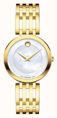 Movado Esperanza reloj PVD oro amarillo de las mujeres 0607054