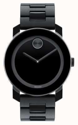 Movado Negrita grande compuesta TR90 negro reloj minimalista 3600047