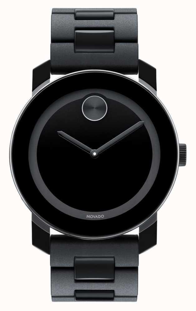 cc2c10fe819d Movado Negrita Grande Compuesta TR90 Negro Reloj Minimalista 3600047 ...