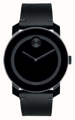 Movado TR90 gran esfera de color negro negro compuesto negrita 3600306