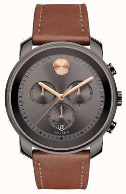 Movado Reloj de color gris oscuro cronógrafo hombres 3600421