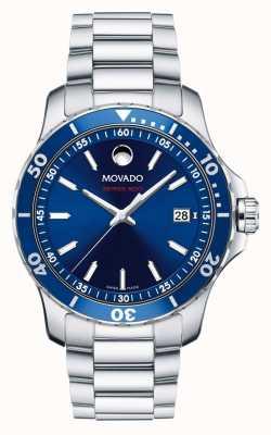 Movado 800 de la serie de relojes deportivos de aluminio de acero funcionamiento de los hombres 2600137