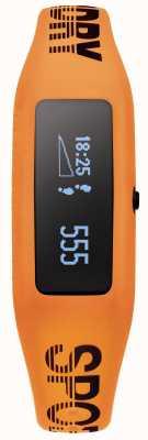 Superdry correa de silicona de color naranja unisex rastreador de ejercicios SYG202O