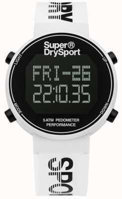 Superdry correa de silicona blanca unisex digi podómetro SYG203W
