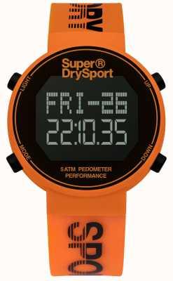 Superdry correa de silicona de color naranja unisex digi podómetro SYG203O