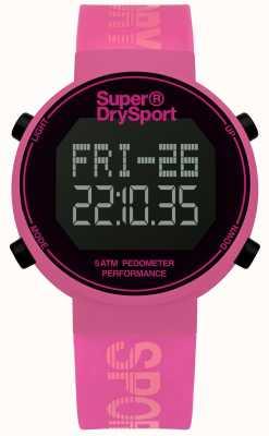 Superdry correa de silicona rosa unisex digi podómetro SYL203P