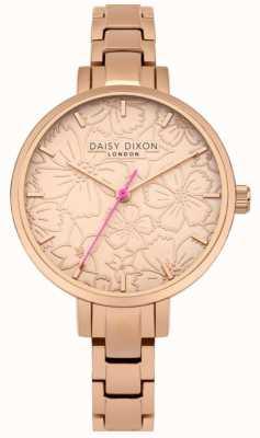 Daisy Dixon Mujer leona estampado floral esfera oro rosa DD043RGM