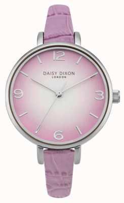 Daisy Dixon Womans Millie efecto cocodrilo lila DD041V