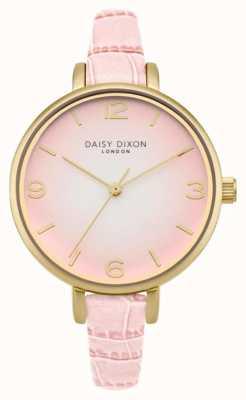 Daisy Dixon Womans Millie efecto cocodrilo de color rosa DD041P
