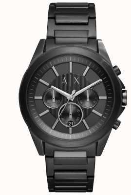 Armani Exchange Acero de hierro negro para hombre AX2601