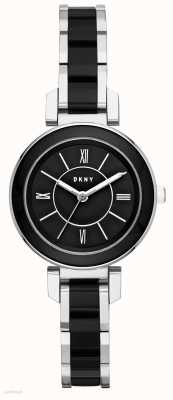 DKNY Womans Ellington acero inoxidable de cerámica negro NY2590