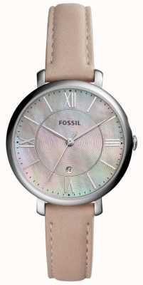 Fossil MOP Dial la mujer Jacqueline correa de cuero de color rosa ES4151