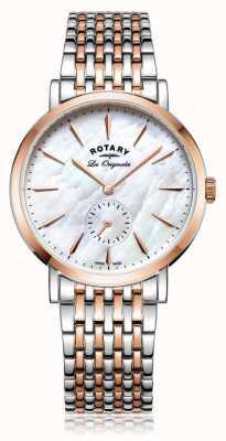 Rotary Womans Suiza hizo Windsor madre de dos tonos de perla LB90191/41