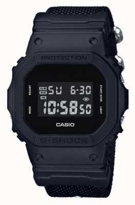 Casio Correa de tela negra para hombre g-shock DW-5600BBN-1ER
