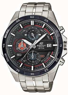 Casio Mens edificio de acero inoxidable Chrono esfera de color negro EFR-556DB-1AVUEF
