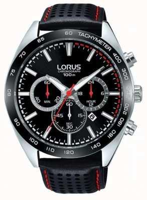 Lorus Relojes de cuero negro RT307GX9