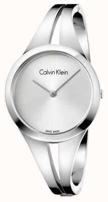 Calvin Klein Womans adicto brazalete de plata de acero inoxidable K7W2S116