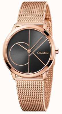 Calvin Klein Correa minimalista de malla de oro rosa para mujer K3M22621