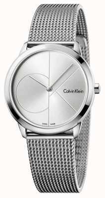 Calvin Klein Malla mínima de acero inoxidable Womans K3M2212Z