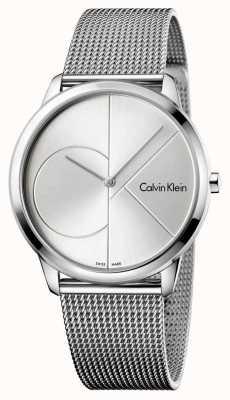 Calvin Klein Correa de malla de acero de plata mínima para hombre K3M2112Z