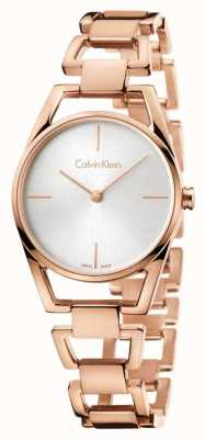 Calvin Klein Oro de la mujer delicada rosa plateado K7L23646
