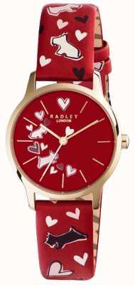 Radley Womans impresos correa de perro rojo RY2474