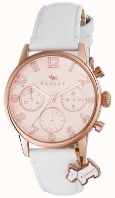 Radley Womans electric avenue cuero blanco chrono RY2462