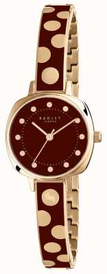 Radley Womans Kennington punto burdeos esmalte RY4274