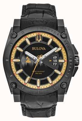 Bulova grammy edición especial de cuero negro Precisionist 98B293