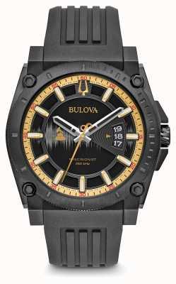 Bulova correa de caucho negro Precisionist edición especial grammy 98B294