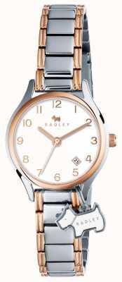 Radley Womans liverpool pulsera de plata de la calle de oro rosa RY4265